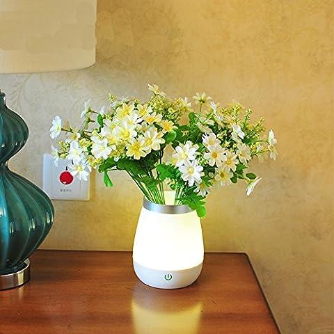 Vase Licht kreative Mini Nacht Licht Schlafzimmer Nachttisch Schreibtisch Lampe multifunktionale niedliche (Einheit-kerze Vase)
