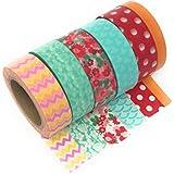 Rollos de cinta de celo japonés, 6 unidades, cada rollo tiene 10 m de largo, ideal para manualidades, bricolaje, creación de tarjetas, etc.