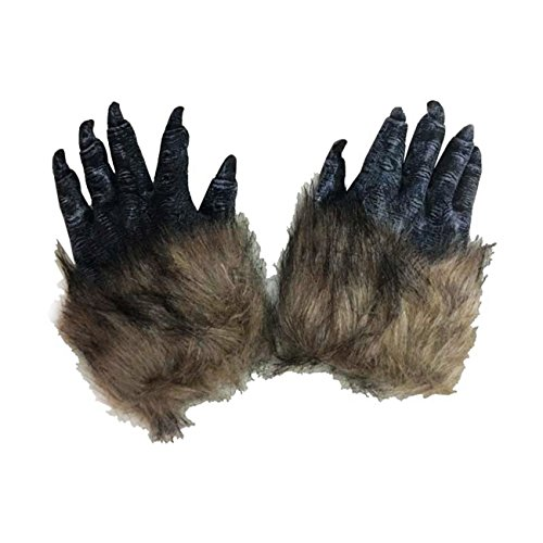 Thee one pair lupo paws claws halloween cosplay guanti creepy costume party black