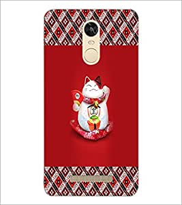 PrintDhaba Happy Kitty D-3033 Back Case Cover for XIAOMI REDMI NOTE 3 (Multi-Coloured)
