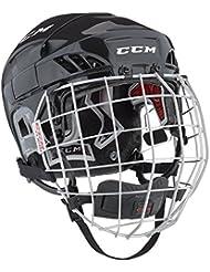 CCM Fitlite 60 Combo de casco de hockey para adulto Blanco blanco Talla:large