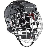 CCM Fitlite 60 Combo de casco de hockey para adulto - Azul Marino, Small