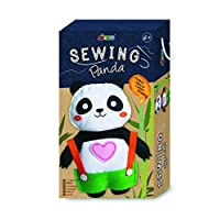 The Great Gadget Emporium Kit to Sew A Panda Doll Beginners Sewing Set Suitable for 6 years old Gift Present Creative Activity Arts & Crafts Christmas Secret Santa Stocking Filler