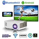 Portable sans Fil Projecteur HDMI Bluetooth,Mini Android Bluetooth Vidéoprojecteur...