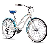 26' Zoll ALU BEACHCRUISER DAMENFAHRRAD CHRISSON SANDY mit 6 Gang SHIMANO TX...