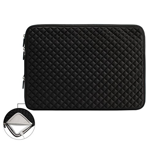 iCozzier® 13-13.3 Inch Diamond Foam Splash Sleeve Carrying Bag for Asus Acer HP Lenovo Dell Samsung Toshiba Chromebook Macbook Ultrabook Laptop Notebook Computer-Black