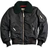 Alpha Industries - Injector III Fliegerjacke (L, Schwarz)