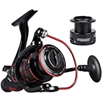 KastKing Sharky Baitfeeder III Spinning Fishing Reel, FREE Spare Spool, Front and Rear Drag Fishing Reel for Carp Pike Coarse Fishing
