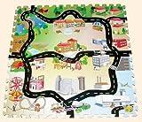 Halilit 746101 - Alfombra con diseño de una ciudad con carreteras para jugar en el suelo (sin sonido)