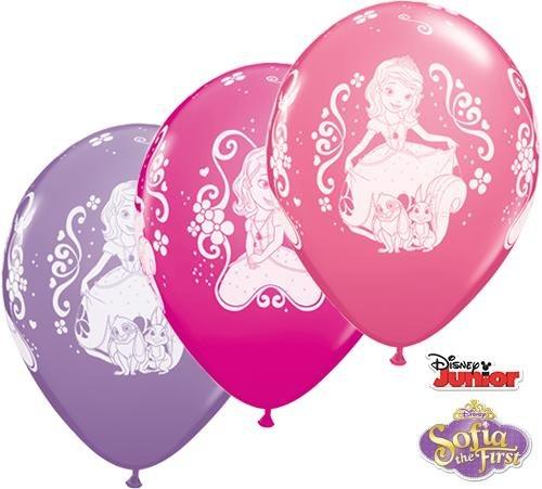 Unbekannt Qualatex 18707Disney Sofia die Erste 27,9cm rund Besondere Sortiment Latex Luftballons 25CT