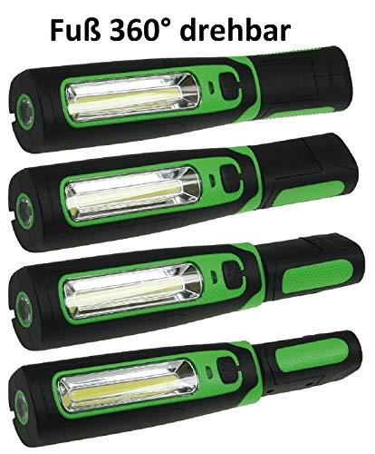 LED Akku Stablampe 160 LED, 12 und 230 V Ladegerät - 6