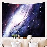 HYRL Tapestry Tenture Murale Tapisserie Maison 3D Cosmic Galaxy Tapisserie Salon Chambre Décoration Tapisserie Pique-Nique Plage Feuille Tissu Tenture Murale,C,51.2In×59.1In