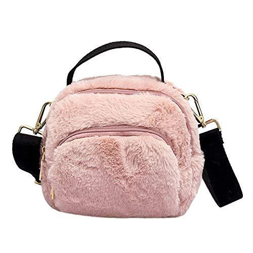 HCFKJ Tasche, Mode Frauen Leopardenmuster Reißverschluss Plüsch Messenger Bag Handtasche Schultertasche (PK)