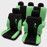 Sitzbezüge Set Flower grün Schonbezug Sitzbezug