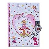Lucy Locket Zauberfee Tagebuch mit Schloss für Kinder (Verschliessbares Tagebuch mit Schloss und Schlüsseln) Glitzerndes Kindertagebuch mit Fee-Design