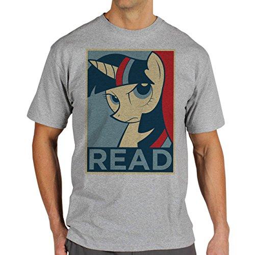 SWAG Read Pony Motivational Background Herren T-Shirt Grau
