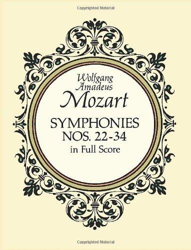 Symphonies Nos. 22-34 in Full Score (Dover Music Scores)