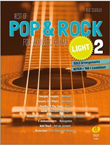 Best of Pop & Rock for Acoustic Guitar light 2: Solo Arrangements Noten + TAB + Leadsheet