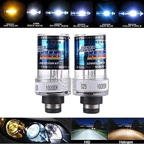 Moppi 2 X 35w d2s auto bianche nascosto xeno fari lampadine luce - 12,000k Diamante