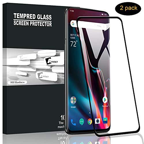 A-VIDET Panzerglas für Oneplus 7 Pro Vollschutz-mit Ultra-Stärke Ultra-klare Transparenz Schutzfolie Bildschirmfolie für Oneplus 7 Pro (2 Stück)
