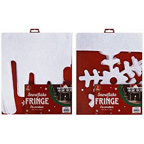 1x Christmas Snow frange? 2Pack? Design an Random 34x 120cm