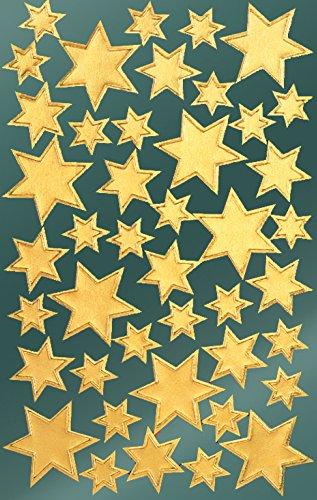 avery-52806-pegatinas-de-navidad-estrellas-papel-satinado-2-hojas-86-pegatinas-oro