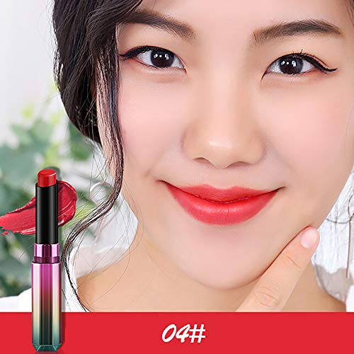 Yazidan 1PC Lipstick Waterproof Long Lasting Matte Lipstick Cosmetic Beauty Make-Up Lippenstift Moisture Extreme Lipstick Sensational Lippenstift feuchtigkeits spendend verführerische Lippen