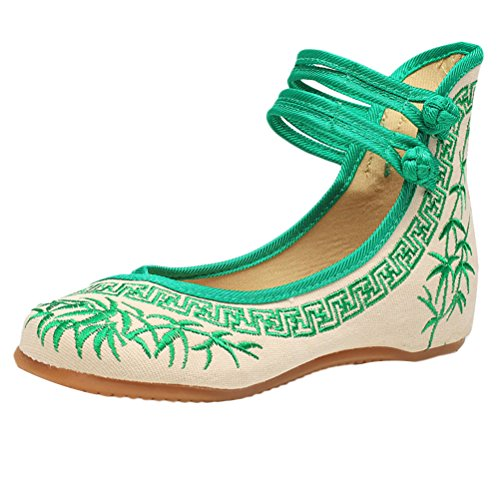 Zhuhaitf Alta Calidad Womens Traditional Pretty Embroidered Casual Shoes Chinese Style Cloth Shoes deWba