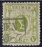 Goldhahn Bremen Nr. 15 a gestempelt und Geprüft Briefmarken für Sammler