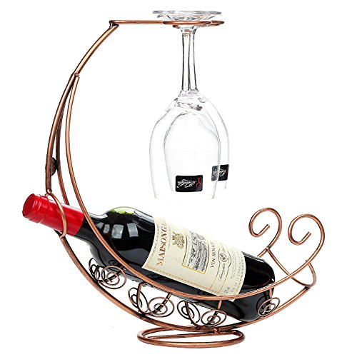 2in 1in metallo vino rack porta in vetro porta bottiglia di vino da tavolo stile mediterraneo nave pirata Design