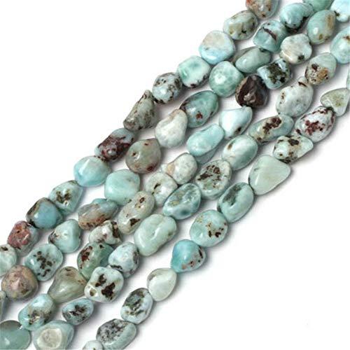 Sweet & Happy Girl's Store Kettenstrang mit Perlen aus Opal zur Fertigung von Schmuck, 86,3 cm, 7-8mm larimar chips (Larimar-schmuck)