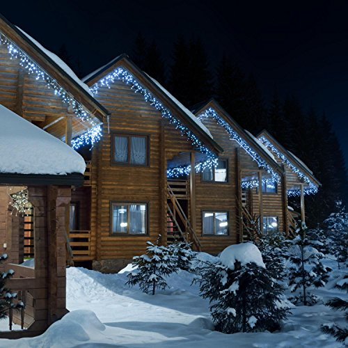 Blumfeldt dreamhouse classic luci illuminazione natalizia (catena luminosa da 16 metri, 320 led, cavo da 6 metri, a risparmio energetico, ip44, per interni ed esterni) - bianco freddo