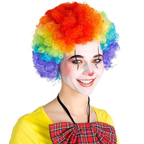 Afro Perücke | Clown Hippie Popstar 80er 70er Jahre Karneval Fasching Clownperücke | -verschiedene Farben- (Bunt | Nr. (Popstar Für Kinder Ideen Kostüm)