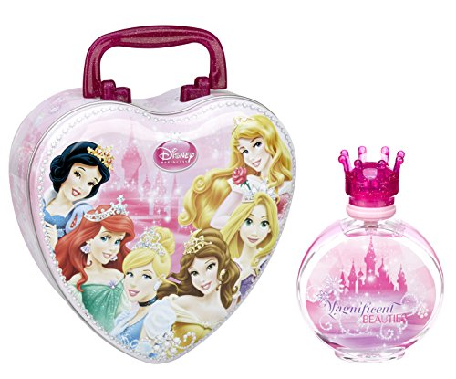 Air Val Disney Princess und Prinzessinnen Geschenk-Set, 1er Pack (Herz-Metallkoffer, Eau de Toilette Spray 100ml)