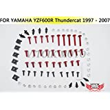 VITCIK Kit Completo de Tornillos y Pernos de Carenado para YZF 600R 1997 1998-2007