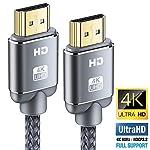 Cble-HDMI-4K-Snowkids-Cble-HDMI-20-High-Speed-par-Ethernet-en-Nylon-Tress-Supporte-3D-Retour-Audio-Cordon-HDMI-pour-Lecteur-Blu-RayXboxXbox-360-PS3-PS4-TV-4K-Ultra-HDEcran-Gris
