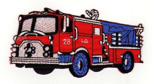 Aufnäher Bügelbild Aufbügler Iron on Patches Applikation Feuerwehr Auto - Feuerwehr-applikationen
