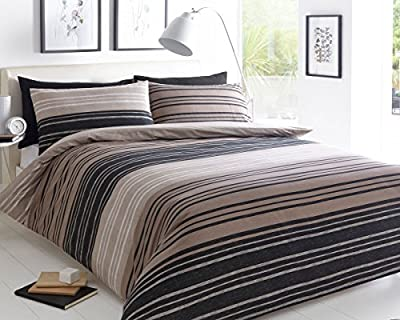 Premium Beautiful Printed Single Double King SuperKing Size bed Duvet Covers set Quilt Cover stripe Bedding + 1 Pillow Cases - low-cost UK light shop.