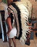 Little-Big-Horn Federhaube Echt Federn Coiffe Indienne Indian Headdress War Bonnet Feather Indianer