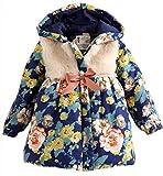 #3: Dolpind Girls Kid Baby Toddler Fur Collars Fleece Hoodie Coat Jacket Snowsuit Outwear