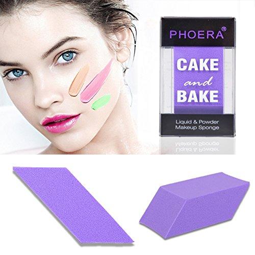 KISSION Square Beauté Composent Puff Éponge Pour Appliquer Base, Fond de Teint, Correcteur, Poudre Libre (Purple)