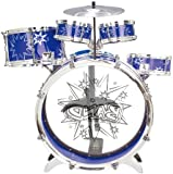 BIG BAND CHILDRENS RED BLUE ROCKSTAR DRUMS PLAY SET MUSICAL SOUND PERCUSSION TOY