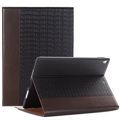 Preisvergleich Produktbild iPad Pro 12.9 Smart Case, elecfan® Ultra Dünn Leichtgewicht Book Style Flip PU Leder Hülle Tasche Wasserdicht Case Smart Cover mit Ständer / Auto Schlaf Wach Funktion Anti Kratzer Schutzhülle für iPad Pro 12.9 (iPad Pro 12.9, Braun)
