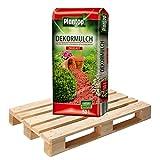20 Sack Dekormulch Ziegelrot mit je 50 Liter = 1000 Liter Plantop Mulch