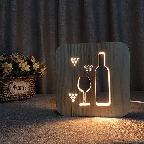 Cestbon Botella de Vino de Noche LED luz de la Noche la luz de la ...