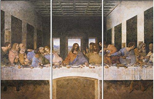 1art1® Leonardo Da Vinci - La Última Cena, 1494–1499 Cuadro, Lienzo Montado Sobre Bastidor (120 x 80cm)
