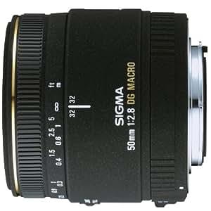 Sigma 50 mm F2,8 EX DG Makro-Objektiv (55 mm Filtergewinde) für Canon Objektivbajonett