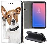 Samsung Galaxy S3 / S3 Neo Hülle Premium Smart Einseitig Flipcover Hülle Samsung S3 Neo Flip Case Handyhülle Samsung S3 Motiv (107 Hund Dog Schwarz Braun Weiß)