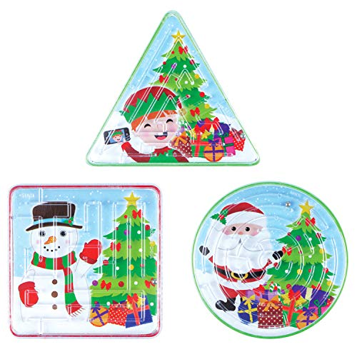 Henbrandt 6 Christmas Maze Puzzles - Party Bags or Stocking Filler