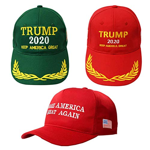 BraveWind Make America Great Again Hat The Ultimate Republiccan Donald Trump USA Cap Adjustable Baseball Hats for Men Women 3 Pack-2 Color Home Womens Cap